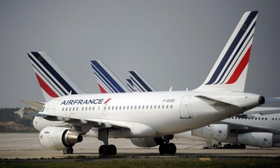 Air France, along with EDF, Engie and other firms are partly sponsoring the COP21 Paris climate talks in December. Photograph: Stephane de Sakutin/AFP/Getty Images