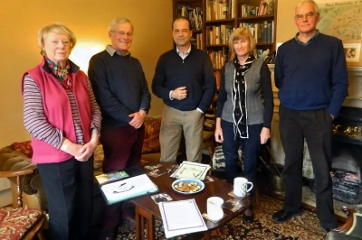 From left, Emsworth Residents Association chairwoman Jo Dyer, Andrew Norton from Warblington Residents Association and Denvilles Residents Association, MP George Hollingbery, alliance chairwoman Ann Buckley and Charles Ash, the planning spokesman for the alliance