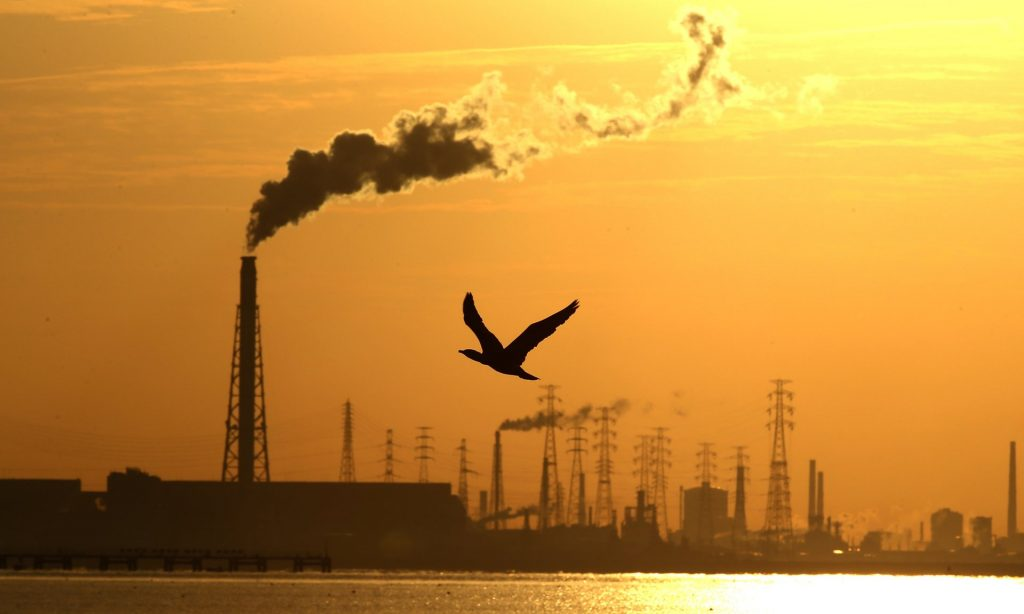 The WMO predicts carbon dioxide concentrations will stay above the symbolic 400ppm for the whole of 2016 and reach new highs. Photograph: Buddhika Weerasinghe/Getty Images
