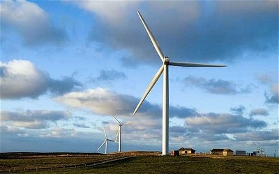 The biggest increase in green power came from more wind farms being built. Wind power produced 9 per cent of UK electricity, up from 6 per cent in 2012, the Government said. Photo: ALAMY